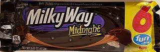 MIlky Way Midnight 6 Fun Size Bars 3.43 oz
