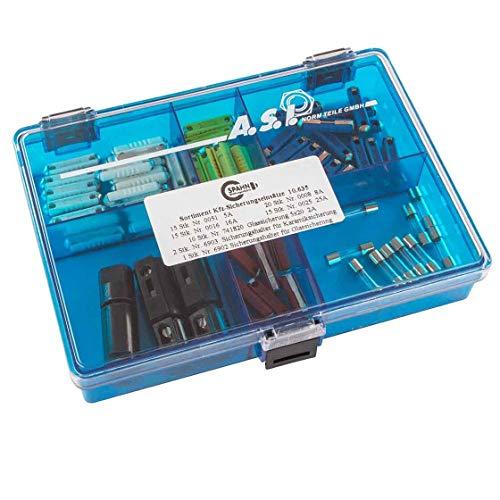 KFZ-Abschmelzsicherungen | Sicherungseinsätze | DIN 72581/1 | 75 Stück | Keramik | Glas | Sicherungshalter | Sicherungen | Set