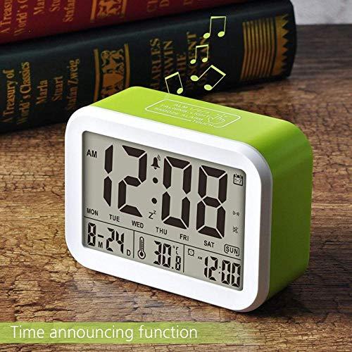 Digitale wekker, pratende klok, 3 wekkers, smart optioneel, wekelijkse alarm, nocturne en snooze functie, datum en tijd