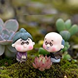 2 Mini-Figuren, tanzende Großeltern, Kunstharz, Handwerk Miniaturen, Feengarten, Dekoration,...