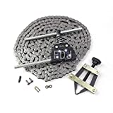 FDJ #35 Roller Chain 10 Feet with Master Links and Chain Breaker Tool Kit...