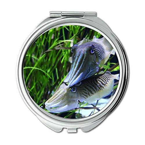 Yanteng Spiegel, Reise-Spiegel, Tiere Aquarium Wasser, Taschenspiegel, tragbarer Spiegel