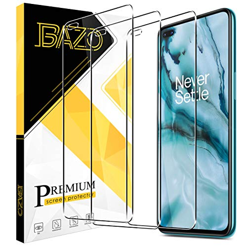 BAZO 3 Pack Screen Protector for OnePlus Nord Tempered Glass, [Anti-Scratch] HD clear [Fit with Most Cases]