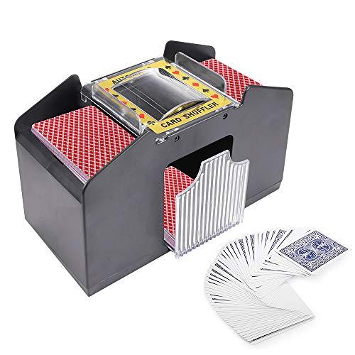 LTXDJ Mélangeur de Cartes, Machine Automatique de mélangeur de Cartes à Piles pour Le Poker, Le rami, UNO, Texas Holdem et Le Blackjack