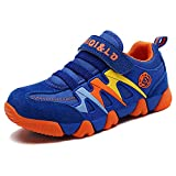 Boys' Girl's Trainers Kids Sports Running Shoes Breathable Lightweight Sneakers Casual Walking Shoes Outdoor (Toddler/Little Kid/Big Kid) Blue 2 UK =Label Size 35