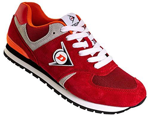 Dunlop Arbeitsschuhe Sneaker Damen - Berufsschuhe mit Rutschfester Sohle Rot Größe 41