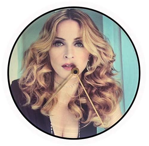 Générique Horloge Vinyle Madonna, Disque Vinyle 33 T, Vintage, Picture Disc, Record, Maxi Vinyl, Maxi 45, 12 inch, Album Vinyl, Noël, Anniversaire, Cadeau, HPD 0151a (Oro)