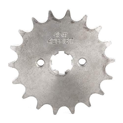 KIMISS 18 Zähne Front Kettenrad Zahnrad Teile Passend für PIT PRO Trail Dirt Bike 110cc 125cc 140cc 428 Kette