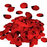 Royal Imports Red Silk Flower Romantic Artificial Rose Petals for Wedding Aisle, Party Favor & Table, Vase, Home Decoration, 1000 PCS