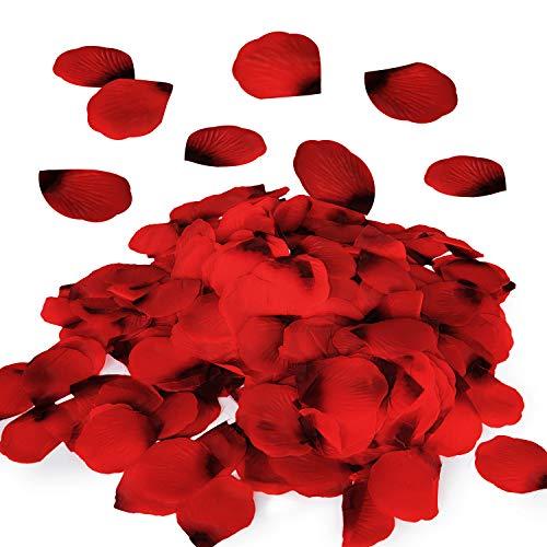 Royal Imports Red Silk Flower Romantic Artificial Rose Petals for Wedding Aisle, Party Favor & Table, Vase, Home Decoration, 1000 PCS