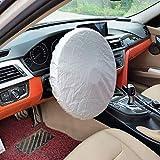 yummyfood Auto Lenkrad Sonnenschutz, Auto Lenkradhüllen Hitzeschutz Lenkradhitzeschutz Car Sun Shade Cover Für Die Meisten Fahrzeuge (Durchmesser 37-38cm)