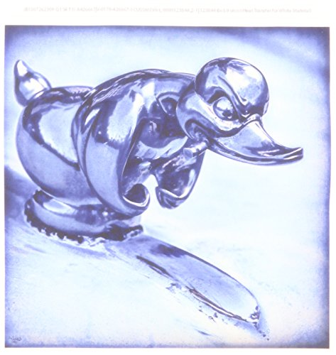3dRose ht_123844_2 Duck Hood Ornament Vintage Iron on Heat Transfer for White Material, 6 by 6-Inch