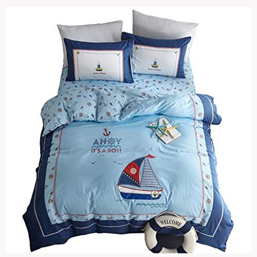 SKRHFLH Casa de Cama de Bordado clásico Ropa de Cama Reina King Size Duvet Cover Pillowcases Casas Casas 4 PC Conjuntos (Size : 1.35m)