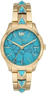 Michael Kors Women's Runway Mercer Quartz Watch with Stainless Steel Strap