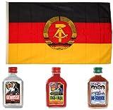 DDR Fahne mit DDR Satire Flachmänner