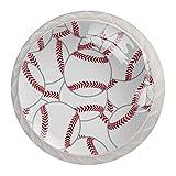 Juego de 4 tiradores de pelota de tenis de béisbol, para el