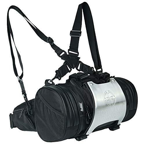 5WAY 多機能 バッグ リュック ウエストバッグ ボディバッグ ハンドバッグ サイドバック 大容量 軽量 防水 アウトドア サイクリング 釣り バッグ バイク 自転車 SKYBOW (ブラック)