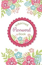 Internet Password Book: Beautiful Floral Cover for Track Your Password Portable Size (Alphabetical with Tabs)