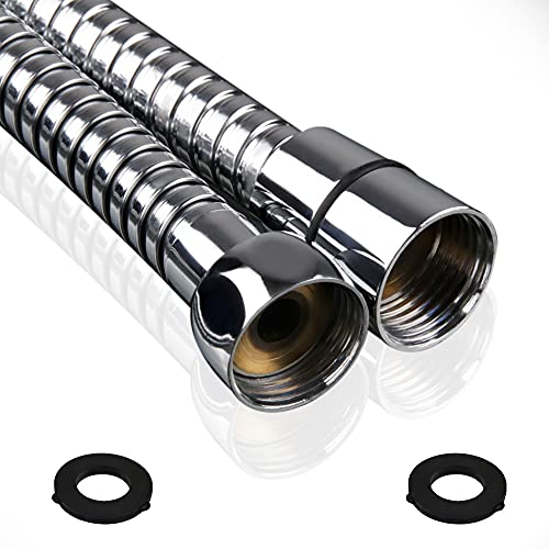 Drawer360 1.75m (69 ) Shower Hose Pipe | Stainless Steel Anti-Kink with 2 Washers – Chrome Effect Universal Fit
