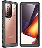 "SPIDERCASE for Samsung Galaxy Note 20 Ultra Case Waterproof 5G, Built-in Screen Protector Fingerprint Unlock, Shockproof Full Body Cover Waterproof Case for Samsung Galaxy Note 20 Ultra 5G 6.9"", 2020"