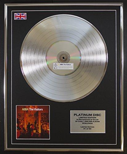 ABBA/Limitierte Edition Platin Schallplatte/THE VISITORS