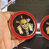 SAISDON- Bope Brazil Pirate Gold Black Red Hq Metal Trunk Badge Auto Fender Side Door Car Self Adhesive Emblem Logo Body Hood Decal Sticker Replacement Truck Van Sports Name [1 Piece]5252