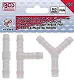 BGS 8790-8 | Conectores para mangueras de caucho y plástico | resistente al combustible | 8 mm | 8 piezas