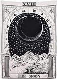 Arazzo da parete con tarocchi di luna nera, la luna la stella il sole arazzo da parete med...