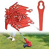 Cuchillas de Plástico Cortacésped, 100 piezas Cuchillas de Repuesto de Plástico, Cuchillas de Plástico para Desbrozadora Cuchillas Cortador de Césped Repuesto Cuchillas de Repuesto de Plástico(Rojo)