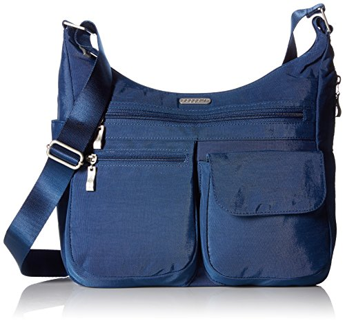 Baggallini unisex-adult Everywhere Travel Crossbody Bag, Pacific,One Size