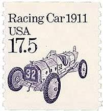 USA 1987 17.5-Cent Transportation Series Racing Car Postage Stamp, Catalog No 2262