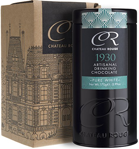 1930 - Cioccolata Calda Bianca - Bere Cioccolata Calda Artigianale, 30% Burro di Cacao, Barattolo da Regalo di Lusso, 170g