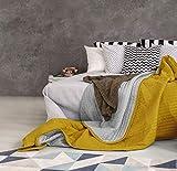 Summer Trapuntino estivo, giallo/grigio chiaro, 1 posto Eldrojoòn de verano amarillo/gris claro, sìngolo, 170x250cm