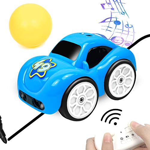 ENERBRIDGE Remote Control Car for Kids Boys 2.4GHz Kids Toy RC Cars 5 in 1 Magic Induction Track Mini Cars Toys Christmas Birthday Gift for Boys & Girls Blue