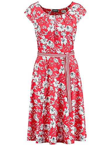 Dames jurk bloemenprint tomato patroon