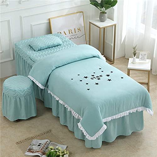 XKun Cubierta de cama de belleza de cuatro piezas simple luz de lujo gestión de la piel salón de belleza masaje cama falda combinación 70x185cm