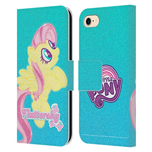 Head Case Designs Officially Licensed My Little Pony Fluttershy Rainbow Vibes Leather Book Wallet Case Cover Compatible with Apple iPhone 7 / iPhone 8 / iPhone SE 2020