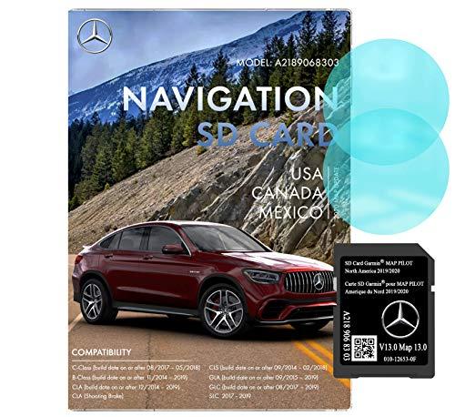 Mercedes Benz Navigation SD Card | Garmin Pilot A2189068303 | 2019/2020 GPS | Version 13.0 | 010-12653-0F | Anti Fog Rearview Mirror Sticker Included