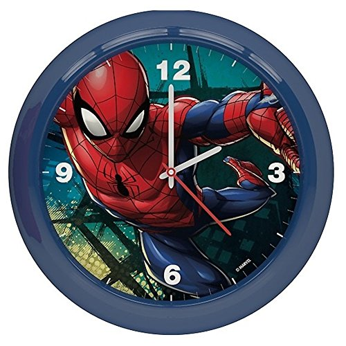STAR LICENSING Wanduhr Spiderman Marvel cm. 25,5- 45452BLU