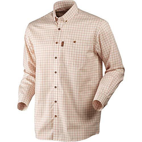 Harkila stenstorp Camisa Quemado Naranja Cuadros/button-under MEDIANO CUADROS