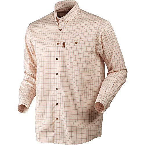 Harkila heren shirt Stenstorp Button-Under Burnt Orange Check
