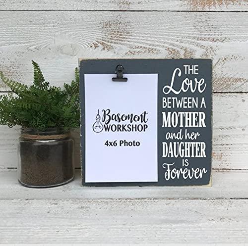 The Love Between a mother and her daughter is forever - bloque de fotos - marco de fotos - marco de clip marco mamá - chica mamá