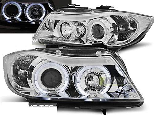 Shop Import Paire de Feux phares - Serie 3 E90/E91 05-08 Angel Eyes Chrome (M75)