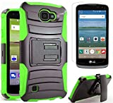 LG Optimus Zone 3 VS425PP (Verizon) LG Spree (Cricket) LG K4 Heavy Duty Shock Impact Protection Dual...