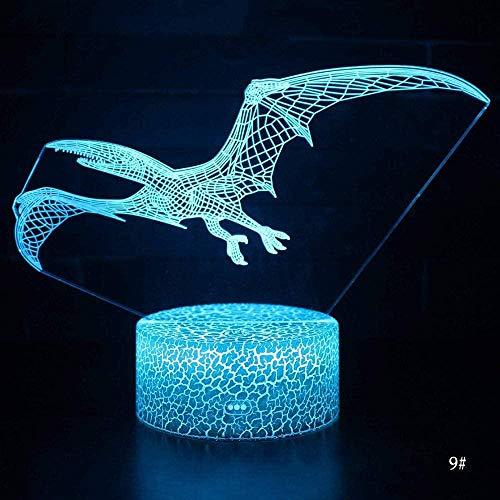 Lámpara de ilusión 3D Luz de noche LED Sonic The Hedgehog Cambio visual Figura de acción onica Novedad para niños-Control remoto