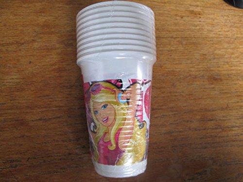 Barbie Vasos de plástico de 200 ml (10 unidades)
