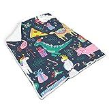 nanjingjin atmungsaktiv farblos weiche Decke für Bett Nicht fusseln für Kinder Warmer Stil White 130x150cm