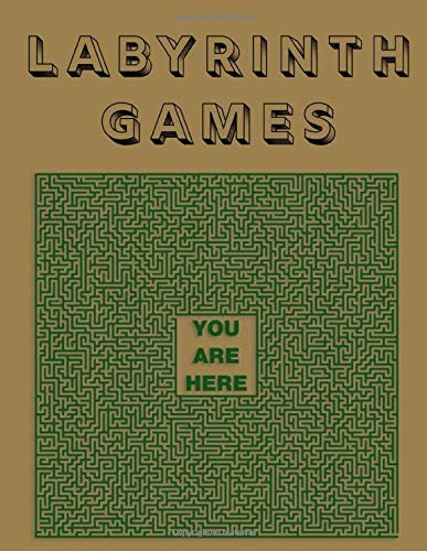Labyrinths Games: Brain Teasers Paper Blank Notebook Journal 8.5x11' 150 Pages | This Book Is Inspired By Mind Sport