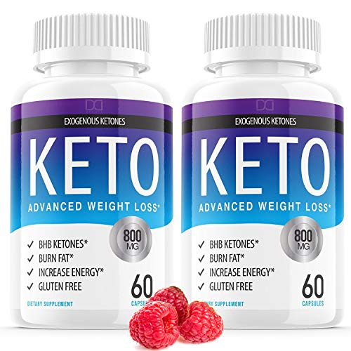 Keto Diet Pills Advanced Weight Loss BHB Capsules Supplements Exogenous Raspberry Ketones for Ketosis with Belly Stomach Fat Burner Keto Vitamins for Women Men Appetite Suppressant Control (2 Pack)