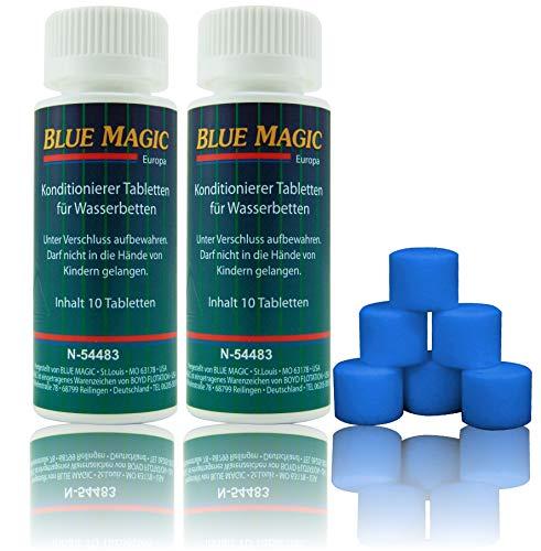 B.M. Blue Magic Konditionierer Conditioner Tabletten Tabs Wasserbett Schlauchsystem Wasser-Kissen 20 Stück = 40g